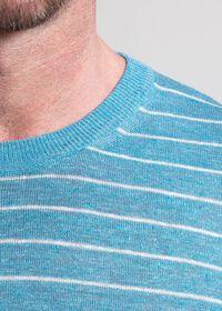 Linen and Silk Striped Crewneck Sweater, thumbnail 2