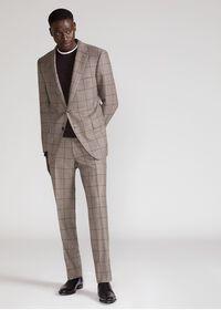 Wool Plaid Classic Shoulder Suit, thumbnail 2
