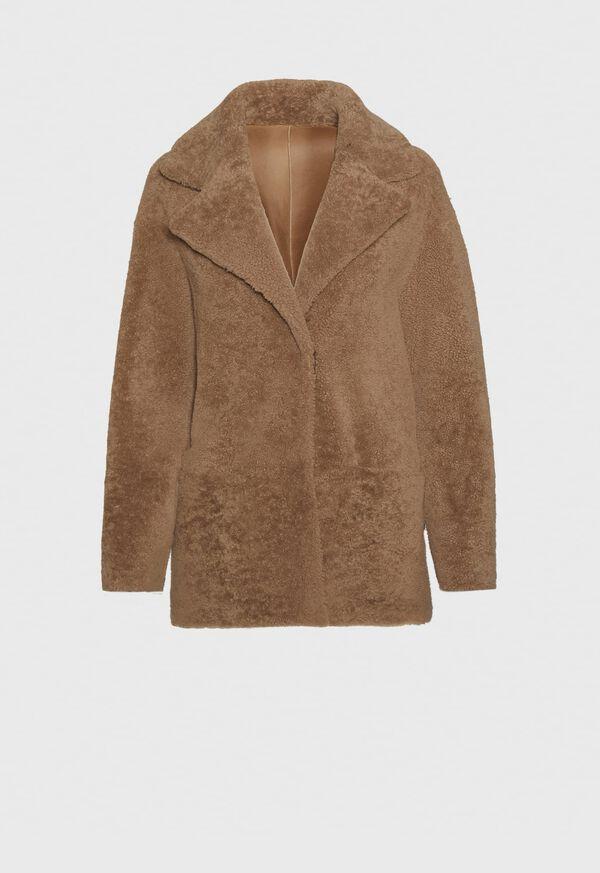 Short Reversible Shearling Jacket
