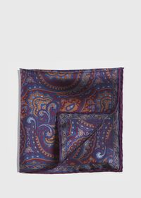 Vintage Paisley Silk Pocket Square, thumbnail 1