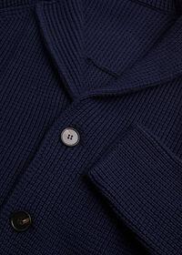 Wool Big Barley Stitch Sweater Jacket, thumbnail 2