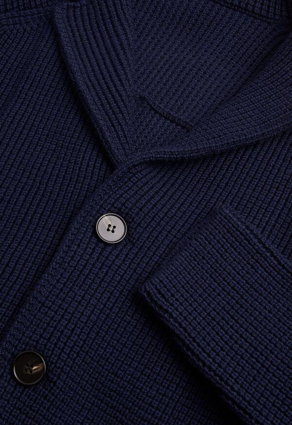 Wool Big Barley Stitch Sweater Jacket, image 2