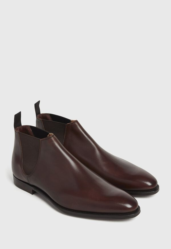 Chestnut Leather Half Chelsea Boot, image 3
