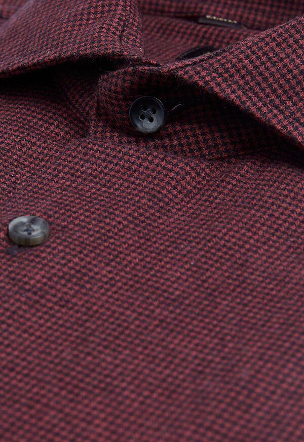 Houndstooth Brushed Flannel Sport Shirt, image 2