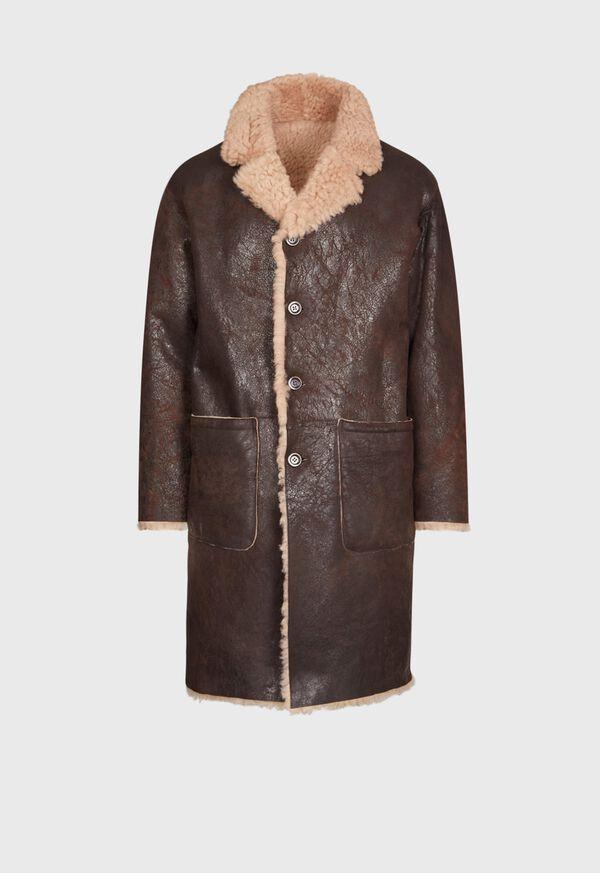 Brown Shearling Long Coat