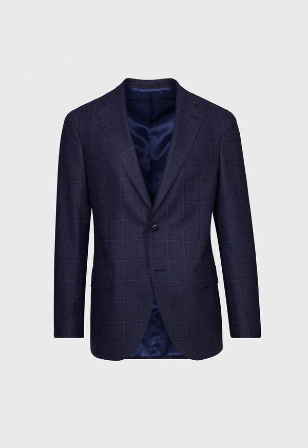 Windowpane Wool and Cashmere Blend Jacket, image 1