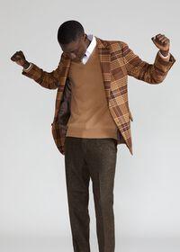 Soft Shoulder Wool Blend Plaid Sport Jacket, thumbnail 2