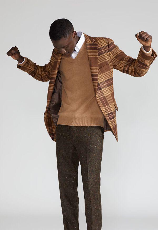 Soft Shoulder Wool Blend Plaid Sport Jacket, image 2