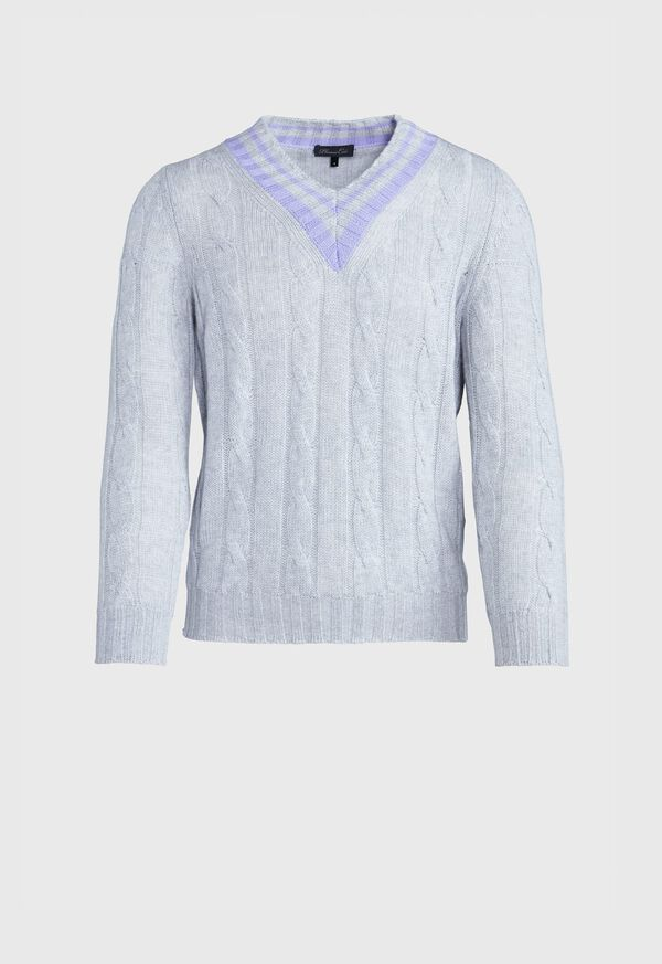 Cable Tennis Sweater, image 1