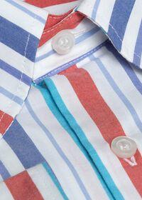 Cotton Multi Stripe Sport Shirt, thumbnail 2