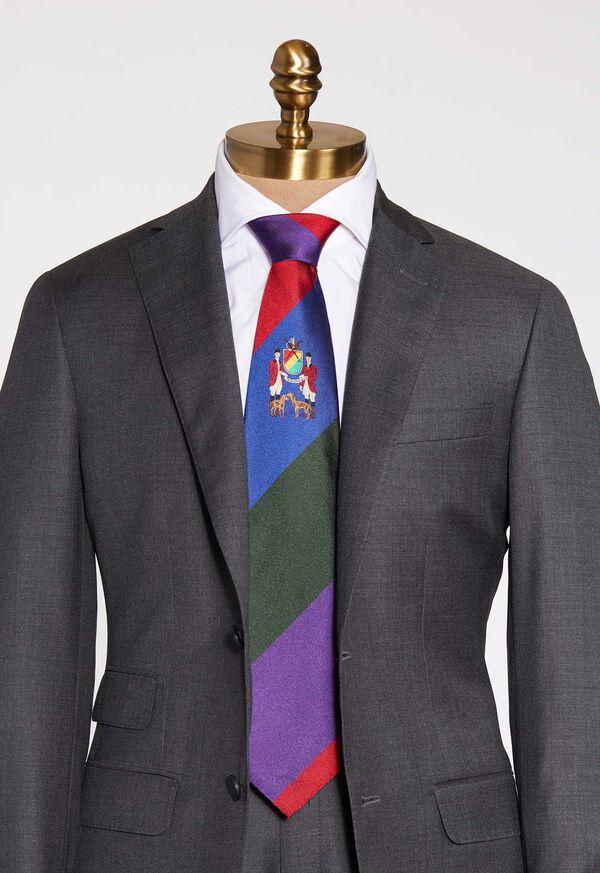 Wide Stripe Silk Tie, image 1