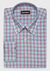 Cotton Multi Color Check Sport Shirt, thumbnail 1