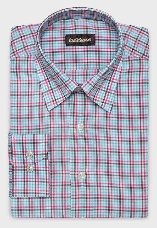 Cotton Multi Color Check Sport Shirt, image 1