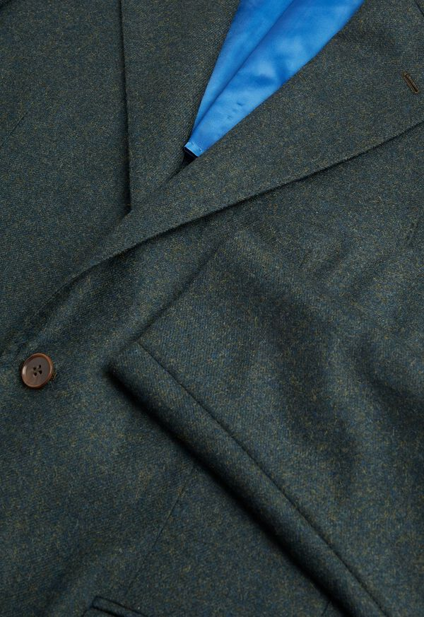 Olive Cashmere Blend Sport Jacket, image 2