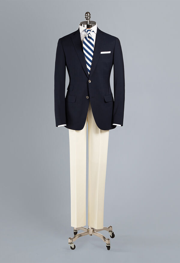 Solid Super 150s Wool Blazer, image 3