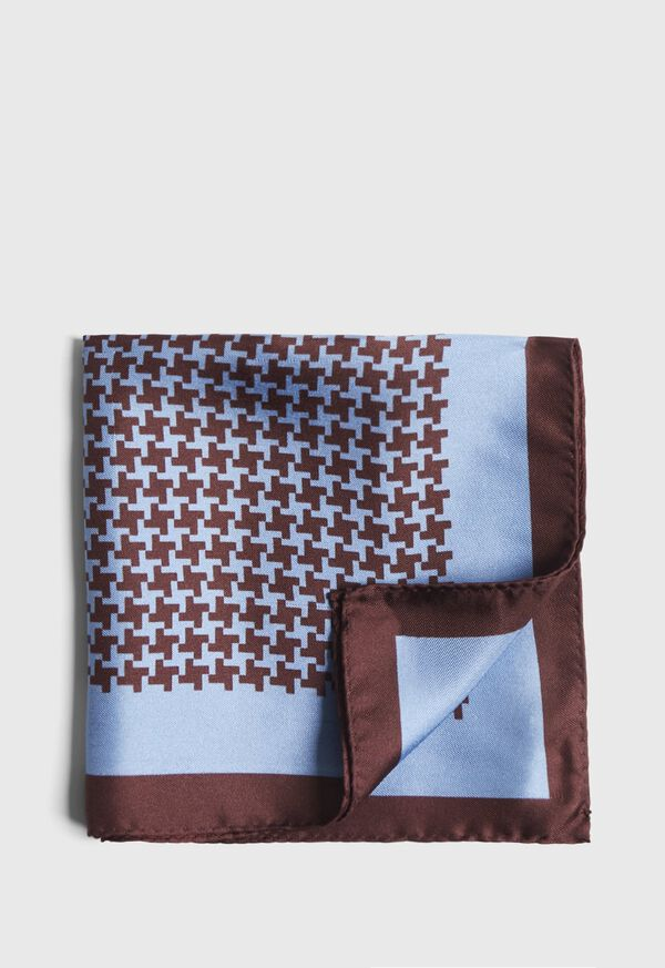 Two Color Houndstooth Pocket Square, image 1
