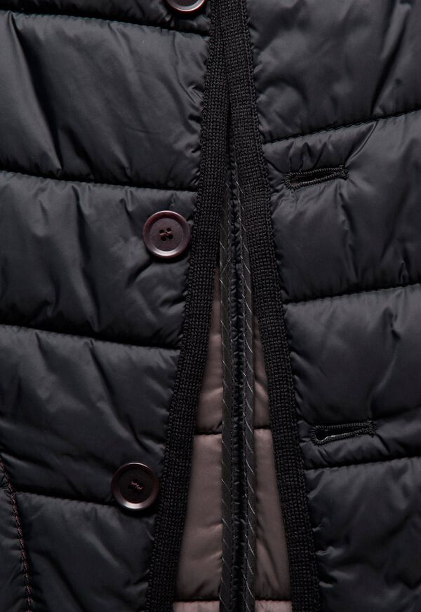 Nylon Button Front Quilted Vest, image 4