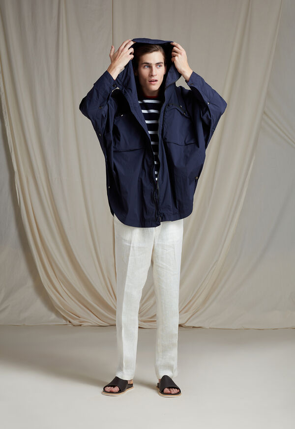 Navy Solid Cape Jacket, image 3