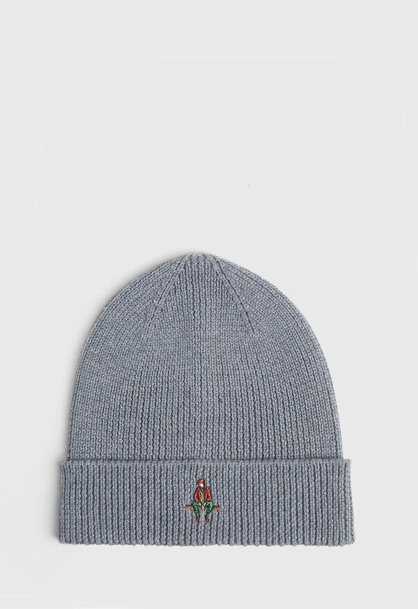 Ribbed Knit Wool Cap, image 1