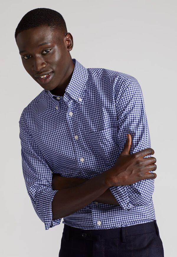 Cotton Check Sport Shirt, image 2