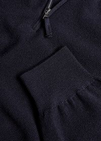 Rice Stitch Quarter Zip Sweater, thumbnail 2