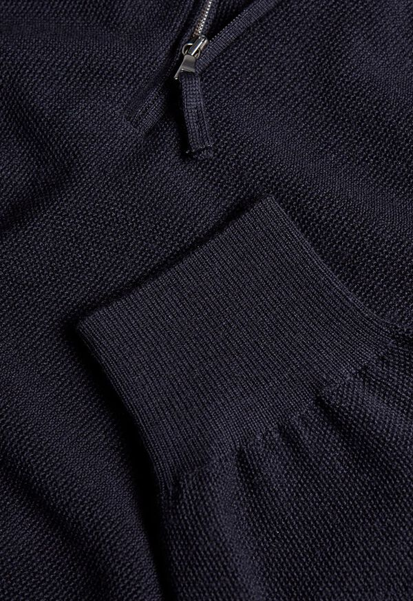 Rice Stitch Quarter Zip Sweater, image 2