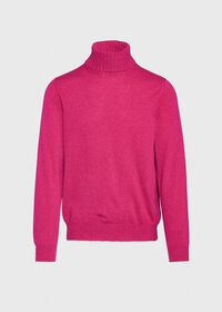 Cashmere Solid Turtleneck, thumbnail 4