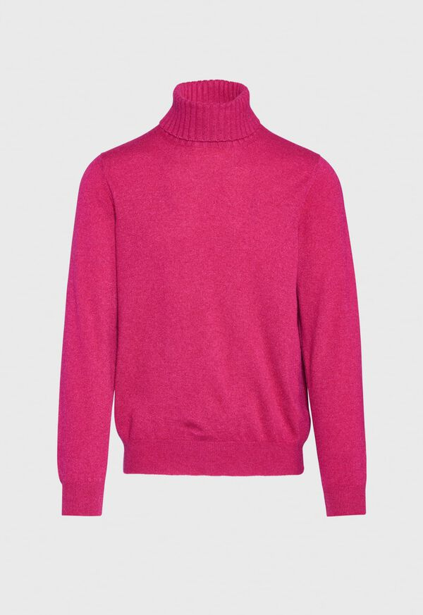 Cashmere Solid Turtleneck, image 4