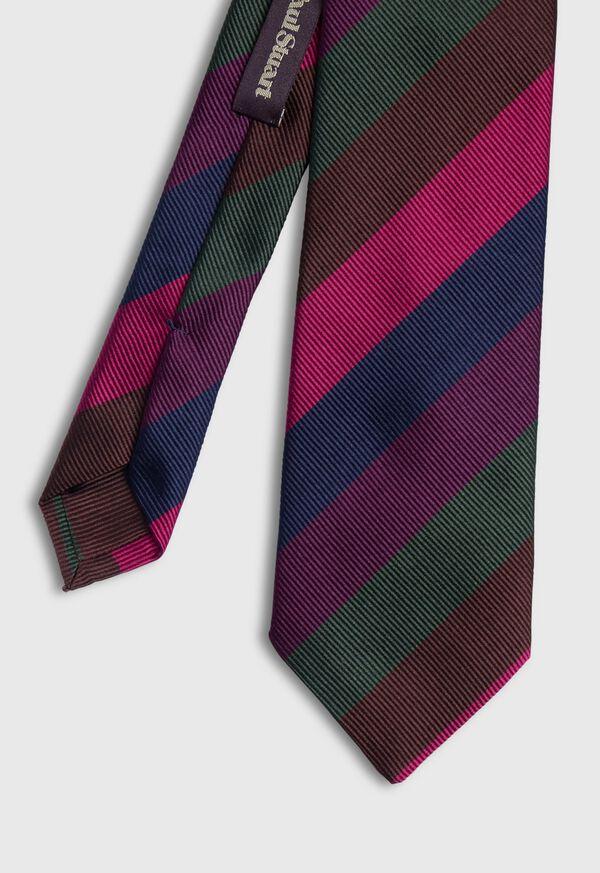Multi Color Bar Stripe Tie, image 1