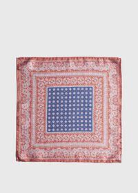 Silk Paisley Medallion Pocket Square, thumbnail 2