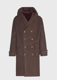 Brown & Burgundy Coat, thumbnail 1
