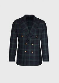 Plaid Double Breasted Wool Jacket, thumbnail 1
