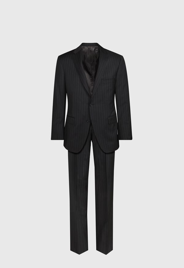 Black and White Chalk Stripe Suit, image 1