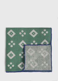 Linen Medallion Pocket Square, thumbnail 1