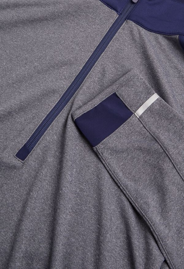 Melange Knit Quarter Zip, image 2