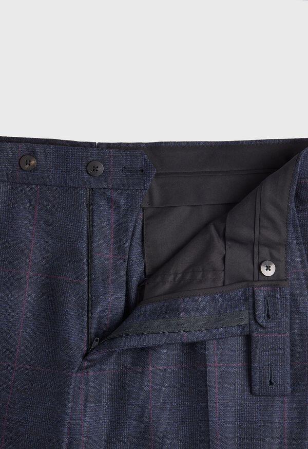 Navy Plaid Soft Shoulder Suit, image 6