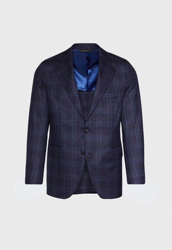 Navy Plaid Wool Suit, image 3