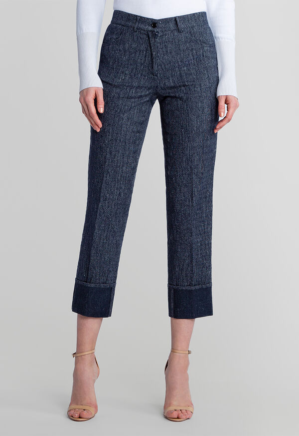 Denim Pant with Cuff Detail, image 1
