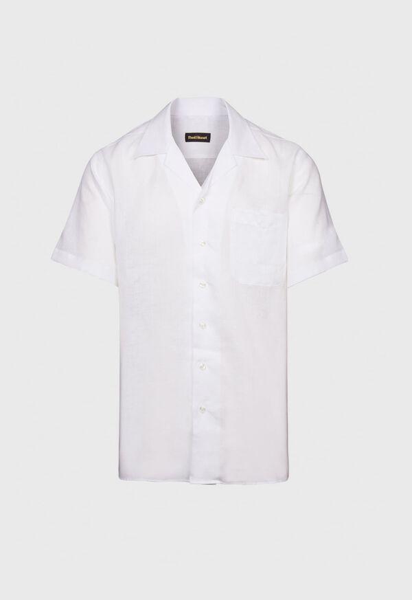 White Linen Camp Shirt, image 1