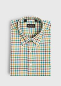 Brushed Flannel Check Sport Shirt, thumbnail 1