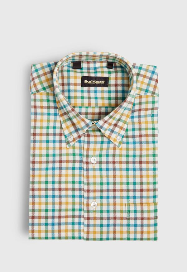 Brushed Flannel Check Sport Shirt, image 1
