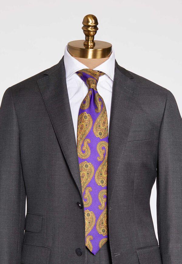 Paisley Print Silk Tie, image 2