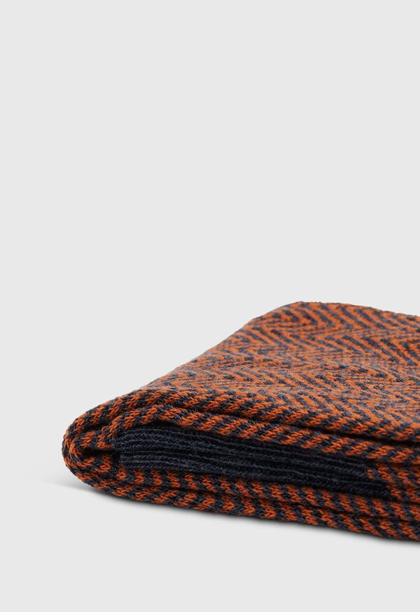 Wool Blend Chevron Sock, image 2