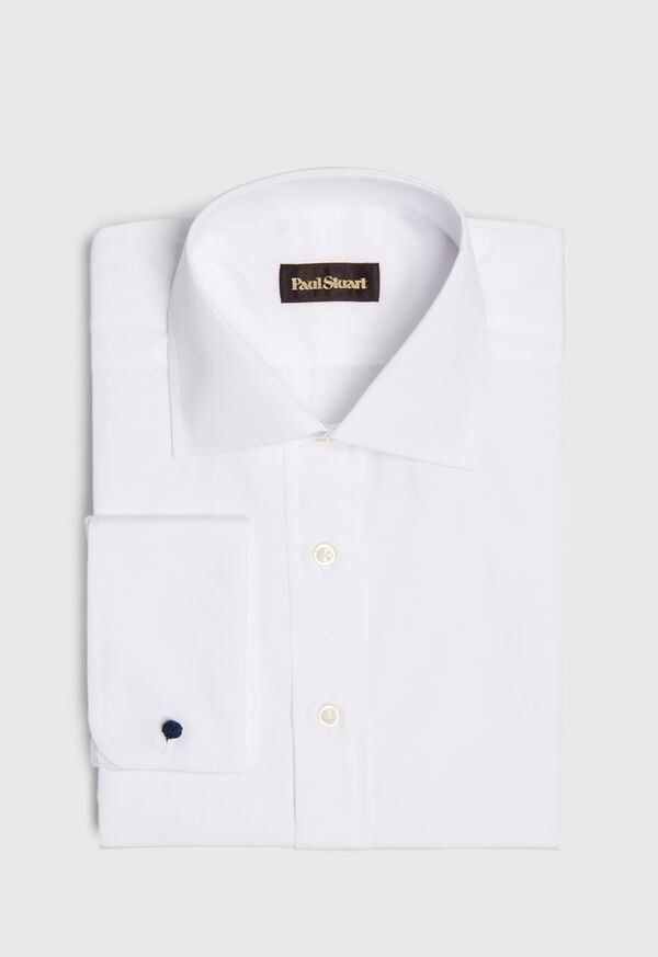Broadcloth Cotton Dress Shirt with French Cuff, image 1