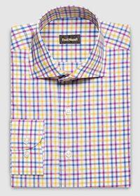 Cotton Check Pattern Sport Shirt, thumbnail 1