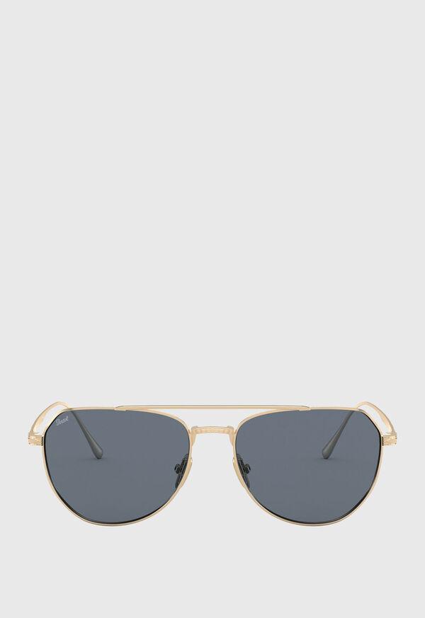 Persol's Gold Aviator Sunglasses, image 1