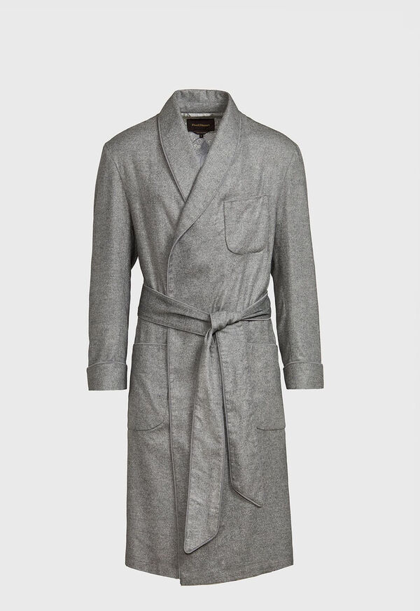 Cashmere Robe with Silk Paisley Lining, image 1