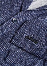Plaid Printed Jersey Soft Jacket, thumbnail 2