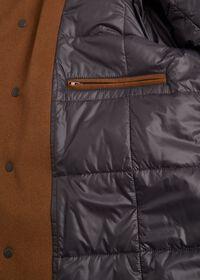 Cashmere Car Coat with Removable Fur Trim, thumbnail 4