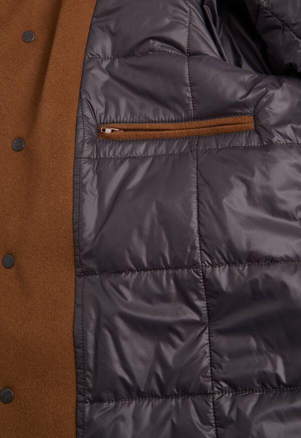 Cashmere Car Coat with Removable Fur Trim, image 4